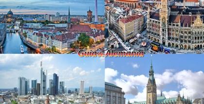 Izquierda superior: Berlín, Izquierda inferior: Frankfurt , Derecha superior: Múnich, Derecha inferior: Hamburgo