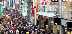 Schildergasse, la calle más comercial de Colonia y Europa.