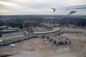 Terminal del Aeropuerto Internacional de Düsseldorf.