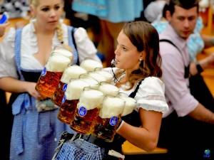 Cervezas en el Oktoberfest.