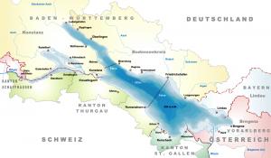 Mapa del Lago de Constanza