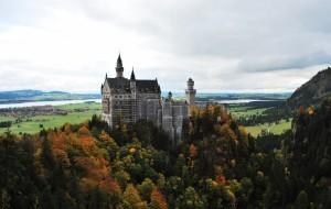 Neuschwanstein Castle en otoño