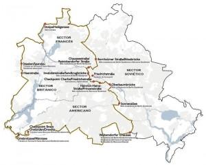 Recorrido del Muro de Berlín (1989)