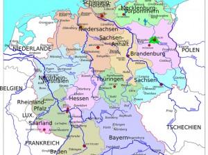 mapa de alemania fisico