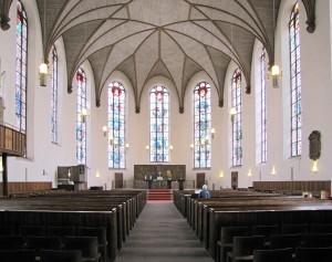 Interiores de la Iglesia de Santa Catalina.