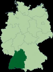 Mapa de Baden-Wurtemberg
