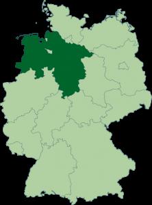 Mapa de Baja Sajonia
