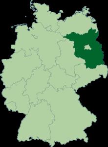 Mapa de Brandeburgo
