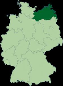 Mapa de Mecklemburgo-Pomerania Occidental