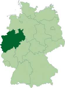Mapa de Renania del Norte-Westfalia
