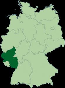 Mapa de Renania-Palatinado