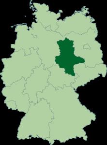 Mapa de Sajonia-Anhalt