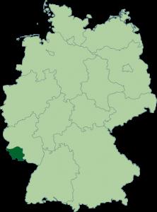 Mapa de Sarre