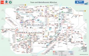 Plano de los Autobuses y Tranvías de Múnich (1000 x 635)
