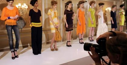 Modelos durante la Semana de la Moda Berlín.