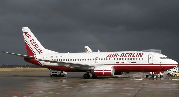Llegando a Berlín en avión