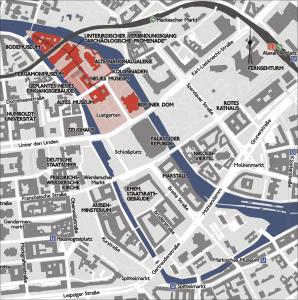 Plano de la isla de los Museos - autor