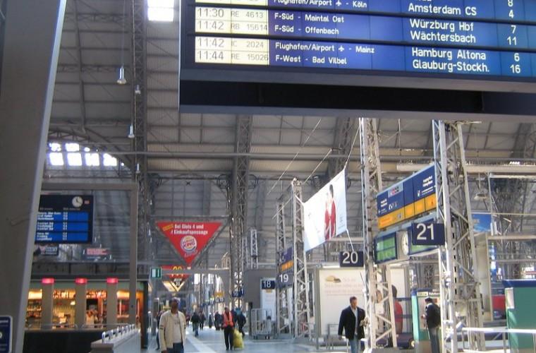 Estación de frankfurt en Alemania