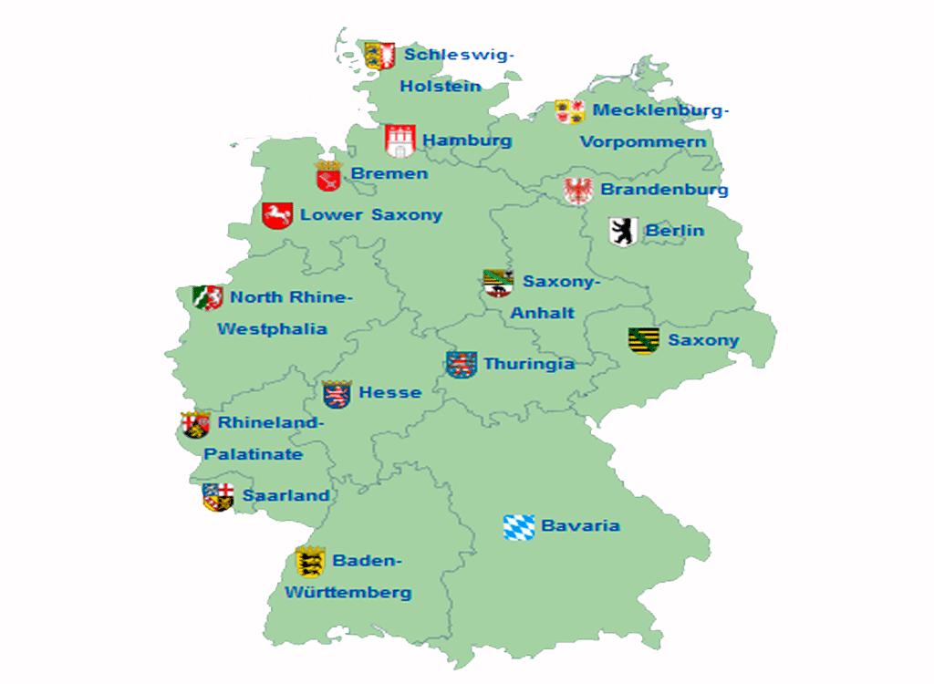 El Turismo En Alemania Mapa