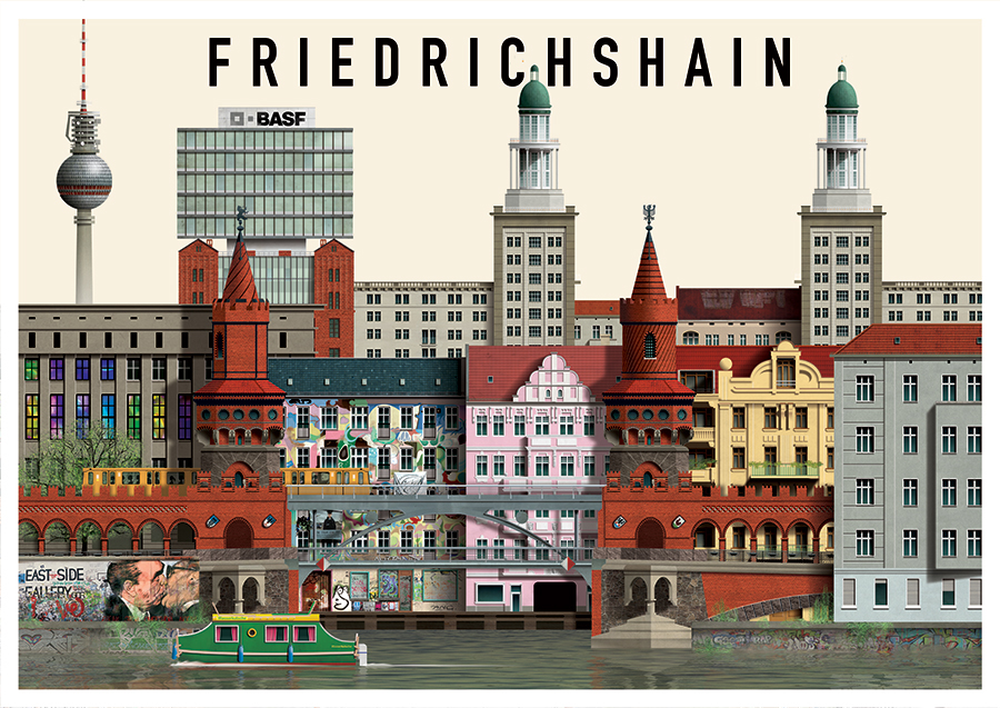 distrito friedrichshain kreuzberg guia de alemania. Black Bedroom Furniture Sets. Home Design Ideas