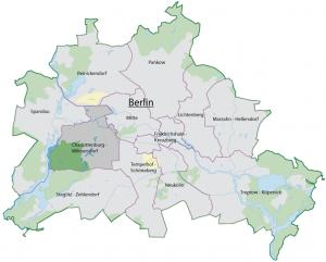 Ubicación del Distrito de Charlottenburg-Wilmersdorf