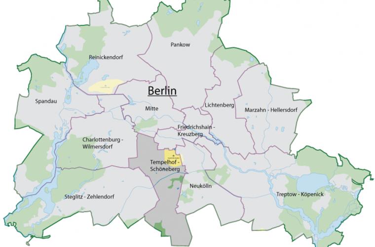 Ubicación del Distrito Tempelhof-Schöneberg
