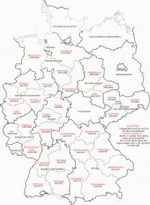 Mapa administrativo de Alemania