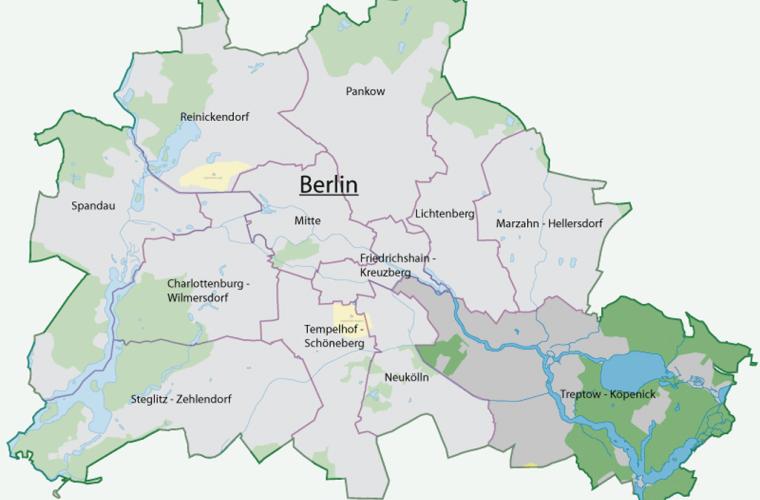 Ubicación del Distrito Treptow-Köpenick