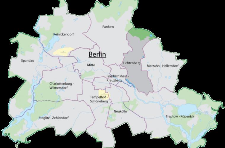 Ubicación del Distrito Lichtenberg