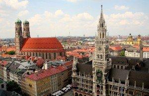 Vista panorámica de Múnich