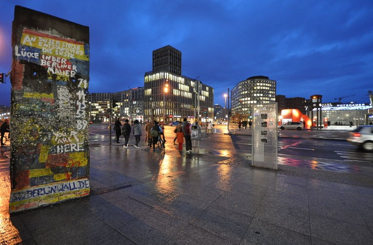 Restos del Muro de Berlín en Potsdamer Platz
