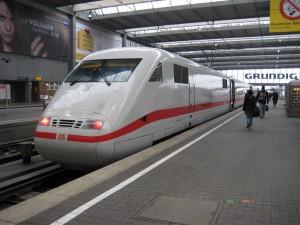 Tren ICE Munich Hauptbahnhof