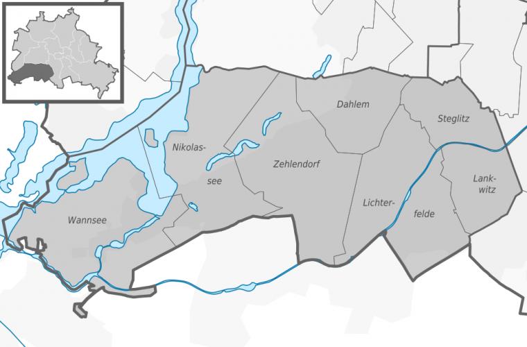 Ubicación del Distrito Steglitz-Zehlendorf