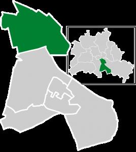 Ubicación del distrito Neukölln