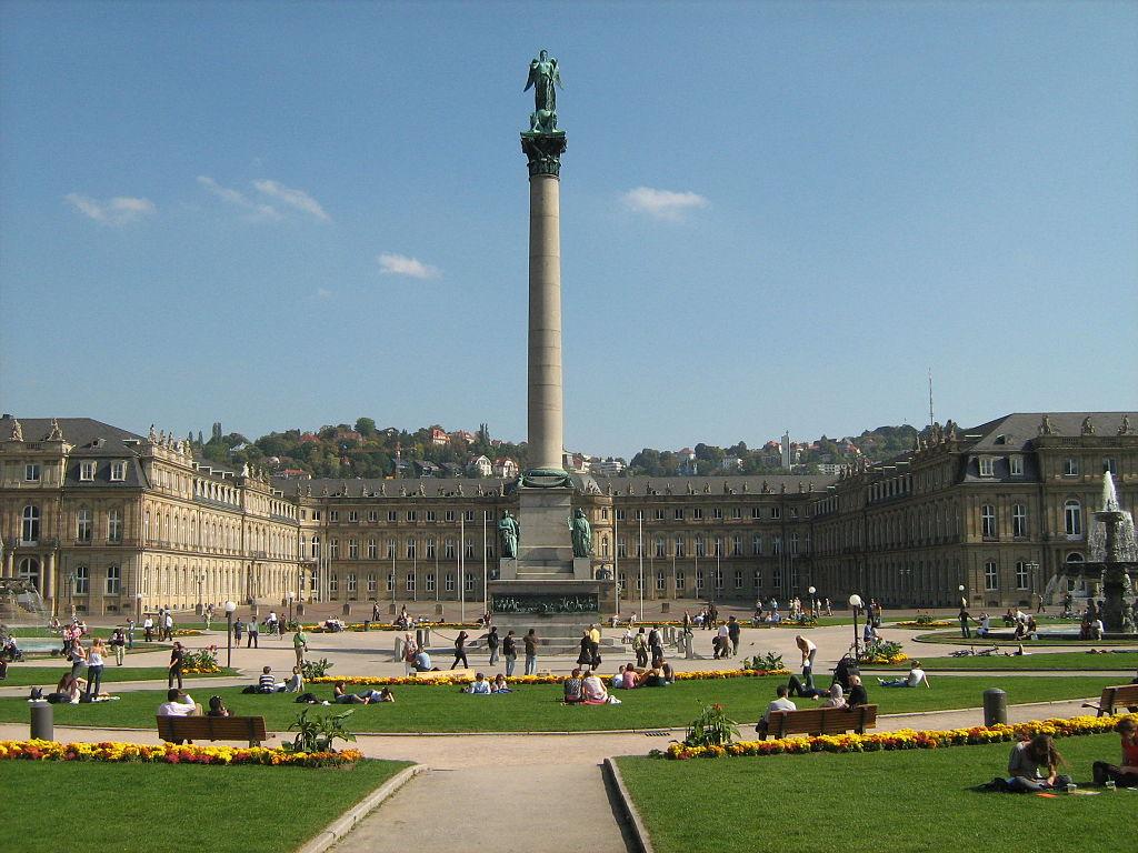 Neues Schloss en el centro de Stuttgart