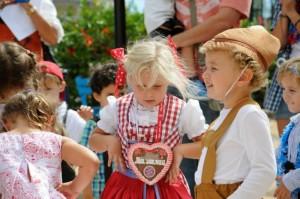 Niños en el Oktoberfest.