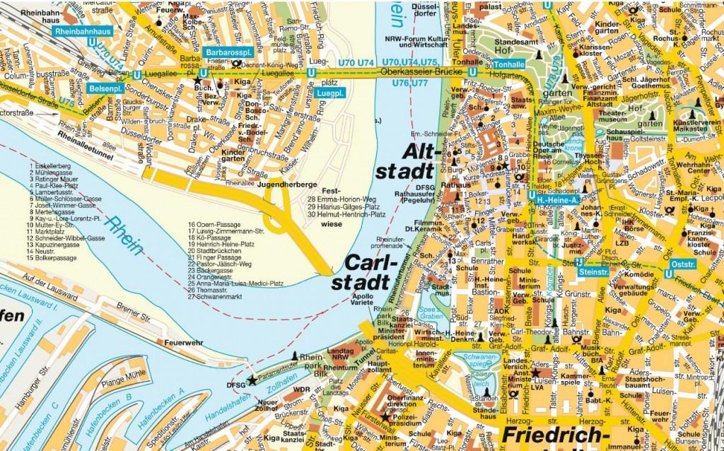 dizeldorf mapa Mapa de Düsseldorf   Guia de Alemania dizeldorf mapa