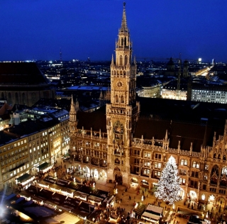 Mercado de Navidad en Marienplatz, Múnich