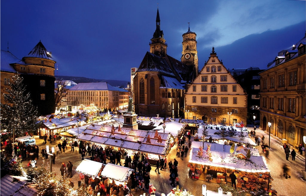 Mercado de Navidad en Schillerplatz, Stuttgart