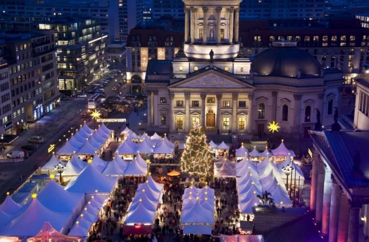 Mercado de Navidad en Gendarmenmarkt, Berlín