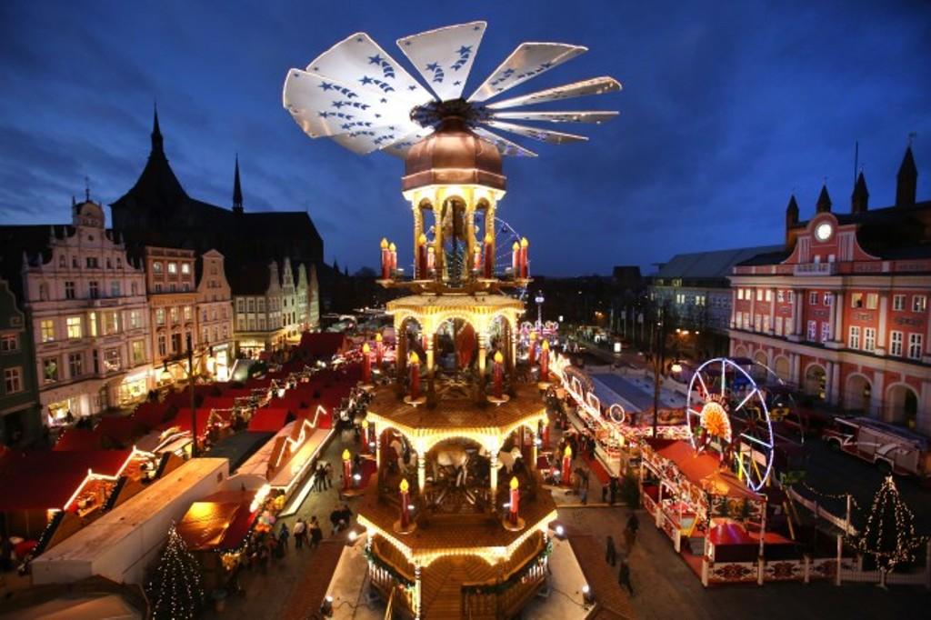 Mercado de Navidad en Neuer Markt, Rostock