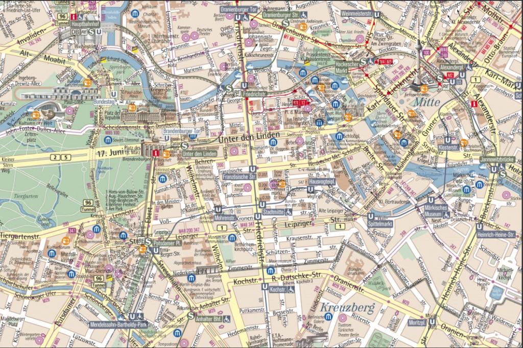 Mapa De Berlin Guia De Alemania Barrios Mapa Satelital Turismo