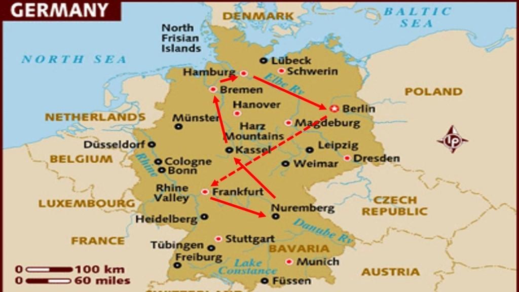 Mapa De Alemania Ciudades.Mapa De Colonia Guia De Alemania