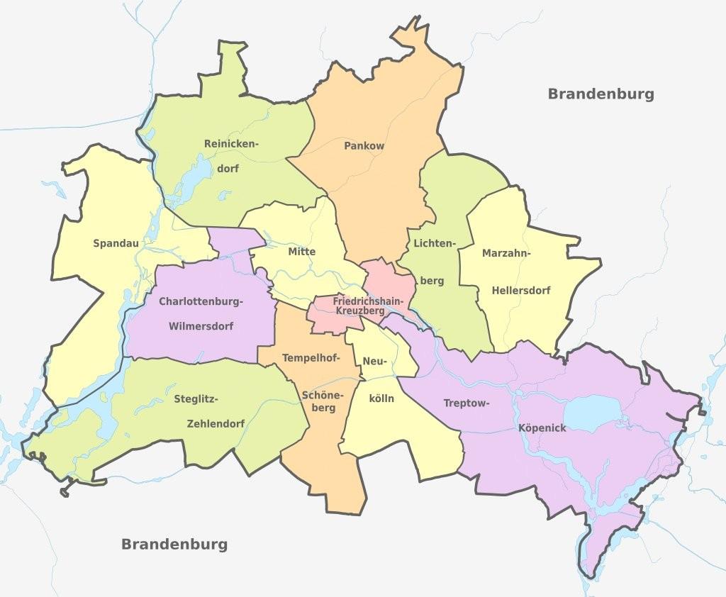mapa de berl n guia de alemania barrios mapa satelital turismo. Black Bedroom Furniture Sets. Home Design Ideas