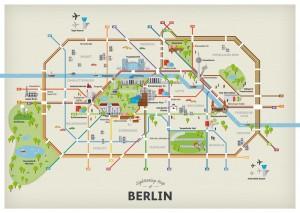 mapa de atracciones turisticas de berlin