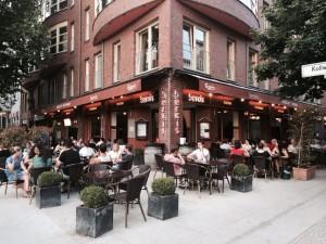La fachada del restaurante Berkis en Berlín.