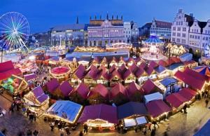 Mercado de Nuremberg en Navidad