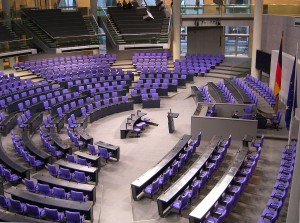 Plenary chamber of the German parliament