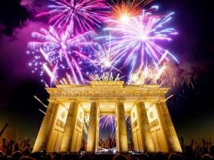 Fiesta de fin de año en la Puerta de Brandenburgo, Berlín