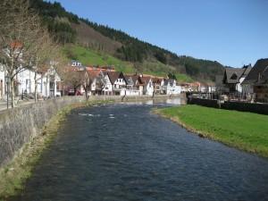 Corto río de Alemania.